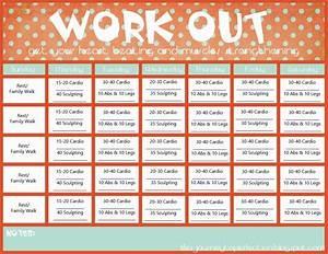 printable workout calendar 2017 printable calendar With exercise calendar template free