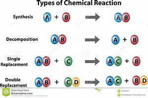 Types Of Chemical Reactions Stock Illustration