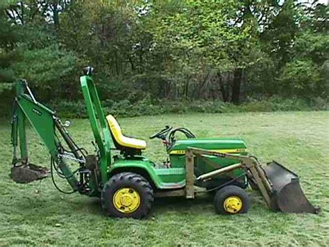 deere 400 garden tractor backhoe attachment car