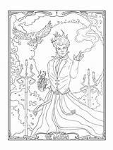 Coloring Pages Tarot Card Mage Magician Printable Adult Getdrawings Print Getcolorings sketch template