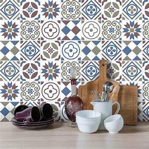 Stickers Carreaux De Ciment : 9 stickers carreaux de ciment azulejos liticina cuisine ~ Melissatoandfro.com Idées de Décoration