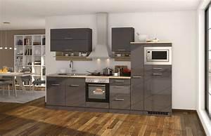 Küche Günstig Mit E Geräten : k chenzeile m nchen vario 1 k che mit e ger ten breite 300 cm hochglanz grau graphit ~ Bigdaddyawards.com Haus und Dekorationen