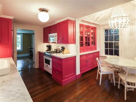 Pink Cabinets   Contemporary   kitchen