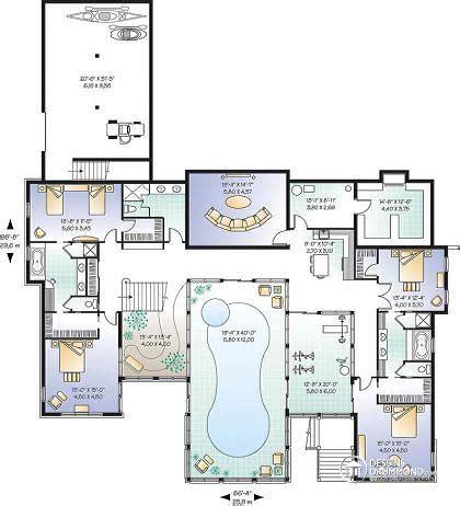 plan maison piscine interieure plan de maison avec piscine int 233 rieure