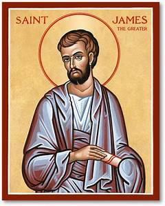 Men Saint Icons: St James the Greater Icon Monastery Icons