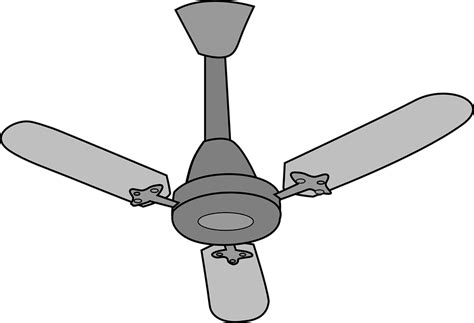Fan Clipart Free Vector Graphic Ceiling Fan Electrical Isolated