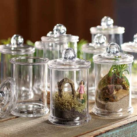 Decorative Kitchen Canisters by Miniature Acrylic Canisters Decorative Containers