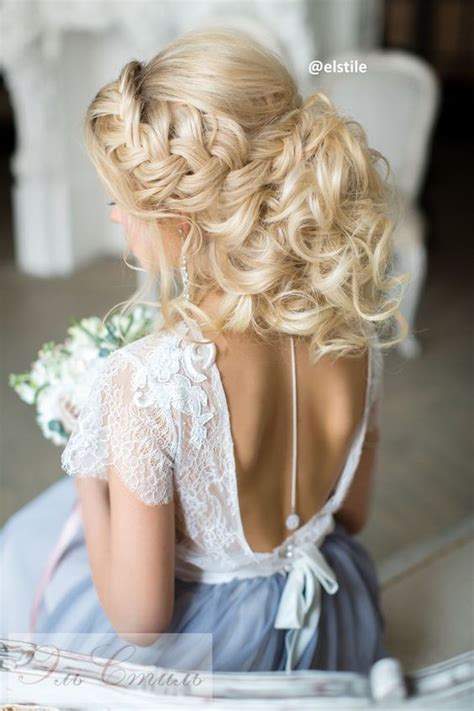wedding hairstyles  open  dress elegant wedding