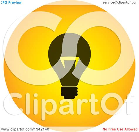 free black light app clipart of a black and yellow light bulb button app