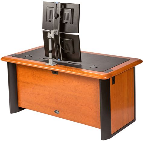 desk for 2 monitors switch dual monitor arm caretta workspace