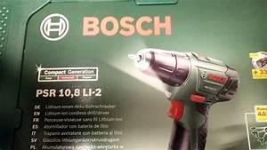 Bosch Psr 10 8 Li 2 Ladegerät : bosch diy akku bohrschrauber psr 10 8 li 2 akku ~ Watch28wear.com Haus und Dekorationen