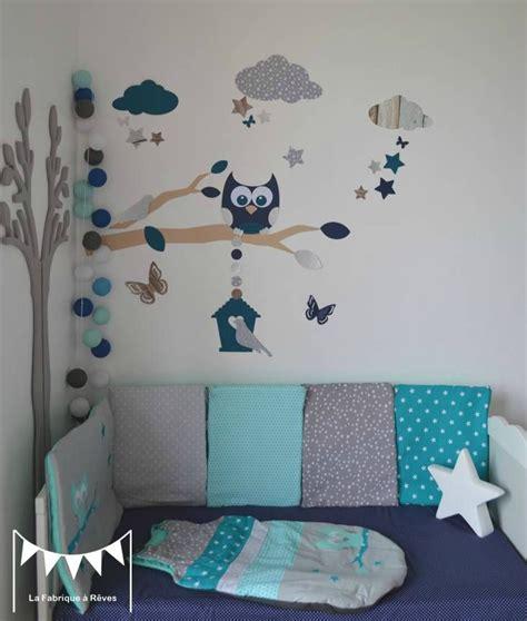 deco chambre etoile gigoteuse turbulette tour de lit hibou étoiles gris