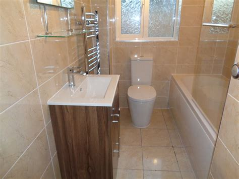 new ideas for bathrooms power shower fitted in new bathroom with walnut vanity basin