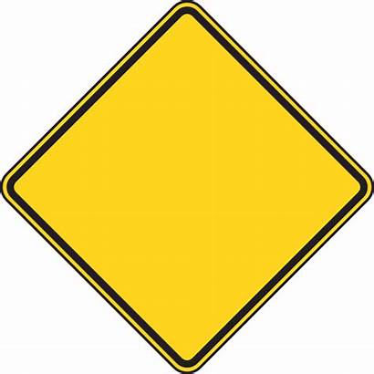 Sign Warning Blank Clipart Clip Construction Yellow