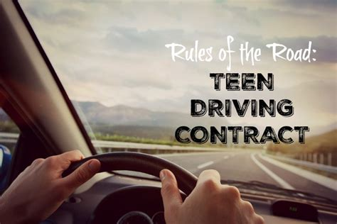 Teenage Driving Contract