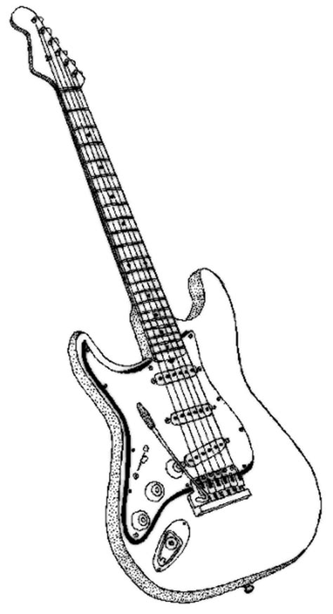 guitar coloring page  dessin pinterest guitars