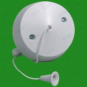 1 Way Ceiling Switch  Pull Cord Light Switch  Bathroom  6 Amp