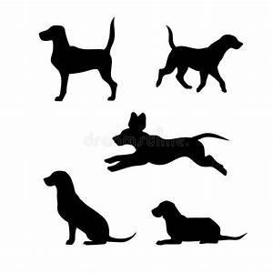 Breed Of A Dog Beagle Vector Silhouettes Stock Vector ...