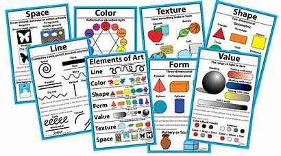 Elements Posters Examples Elementary Arts Value Formal