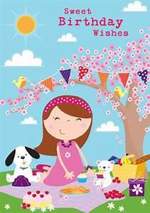 Cute Kids Children Birthday Greeting Cards Design Abacus ...