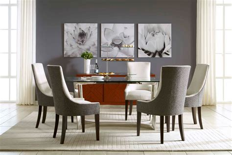 mitchell and gold furniture rectangular glass dining table dining room modern with buffet dining chairs dining