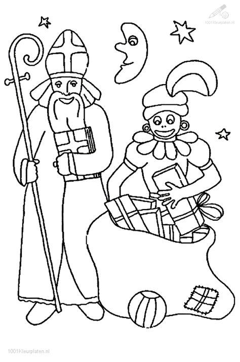 Kleurplaat Sint En Piet Op Fiets by Sinterklaas En Zwarte Piet