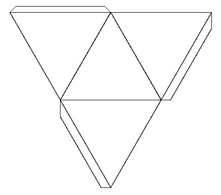 solid shapes   nets tetrahedron