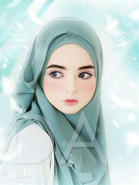 pin oleh pachinko  anime hijab kartun gambar gadis