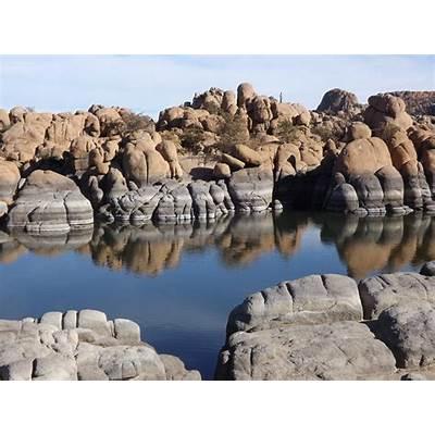 Gorgeous Granite Dells rise from Watson Lake near Prescott