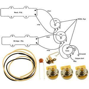 new wiring kit for fender 174 jazz bass complete w diagram cts switchcraft 645208043406 ebay