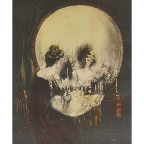 Early 1900s Original C. Allan Gilbert ALL IS VANITY Lady