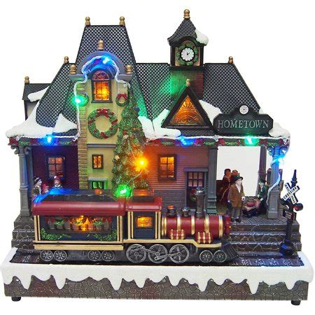 holiday time christmas village  battery operated