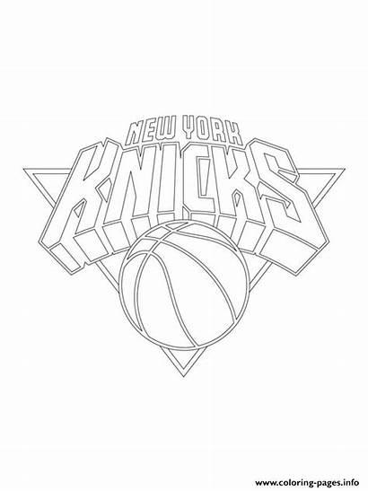 Knicks Coloring York Nba Pages Printable Yankees