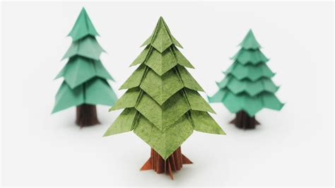 christmas tree out of paper origami tree jo nakashima