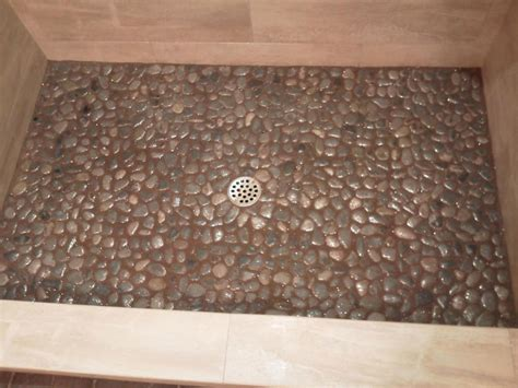Mosaic Tile Shower Floor - bathroom cozy pebble shower floor for unique your