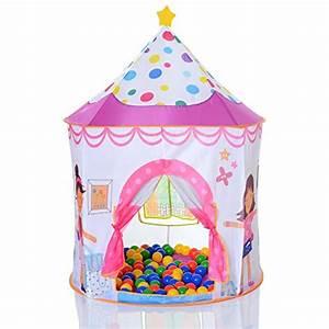 Kinderzelt Mit Bällen : lcp kids pop up spielzelt prinzessin als kinder spielhaus und b llebad mit 100 bunten b llen ~ Watch28wear.com Haus und Dekorationen