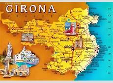 Kaart afbeeldingen van de provincie Gerona