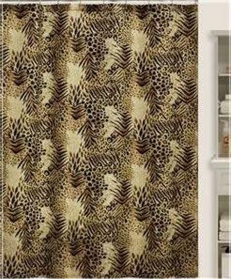 safari shower curtain brown 72x72