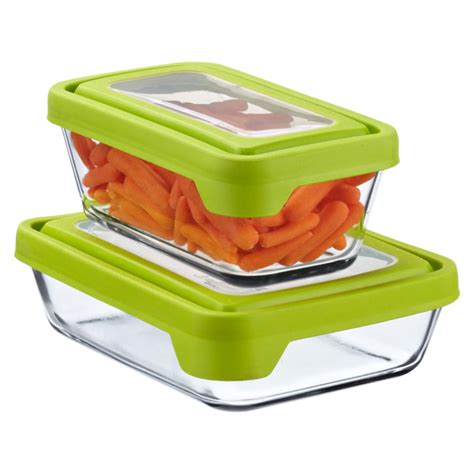 container cuisine anchor hocking glass trueseal rectangle food storage