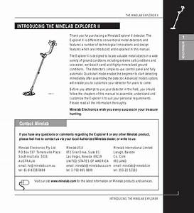 Instruction Manual Minelab Explorer Ii Metal Detector