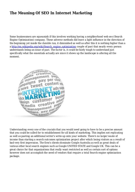 seo marketing meaning the meaning of seo in marketing