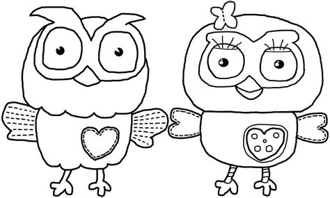 Cute Owl Coloring Pages