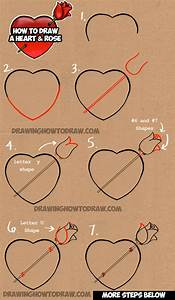 Learn How to Draw a Heart with a Rose - Easy Step by Step ...