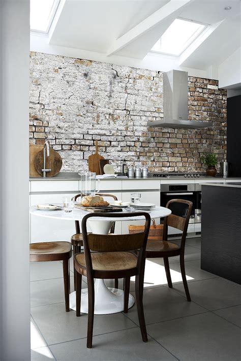 aged brick wall wallpaper   kitchen combines  hot