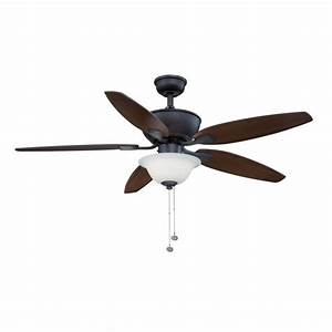 Hampton bay carrolton ii led oil rubbed bronze ceiling fan