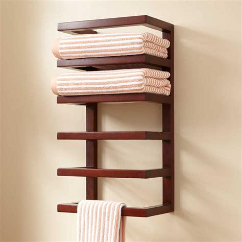 bathroom shelving ideas for towels mahogany hanging towel rack towel holders bathroom