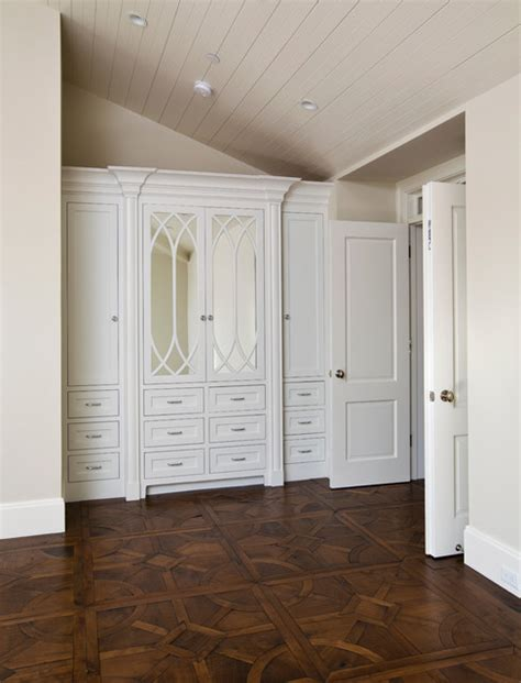 painted built  cabinets traditional bedroom san