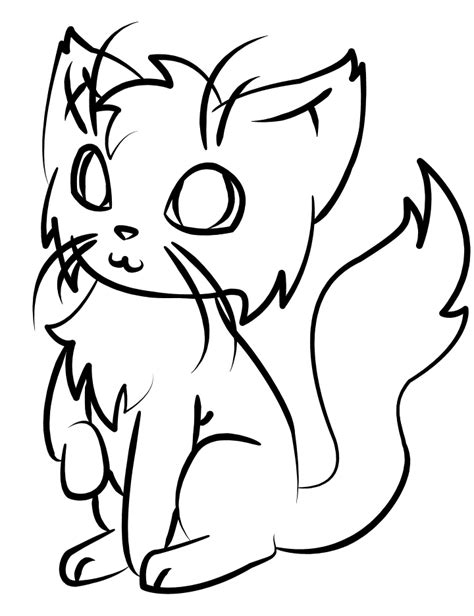 simple  drawing  cats clipart   kittens