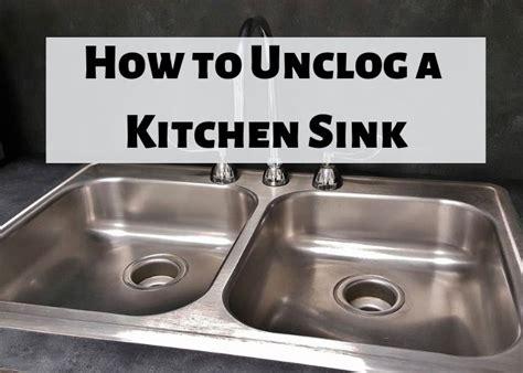 unclog  kitchen sink drain  methods double