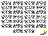 Valentine Alphabets Printable Chart Coloring Hearts Alphabet Letters Template Valentines Yescoloring Boys Lovin sketch template